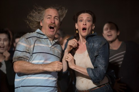 """Bob Odenkirk and Joan Cusack in Columbia Pictures' """"Freaks of Nature."""""""