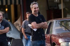 """Director Rob Letterman on the set of Columbia Pictures' """"Goosebumps,"""" starring Jack Black."""