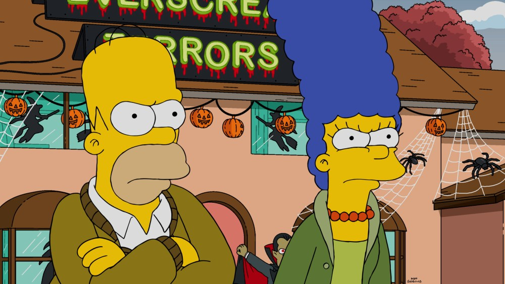 The simpsons aired their first ever halloween episode bloody disgusting - Bart et milhouse ...
