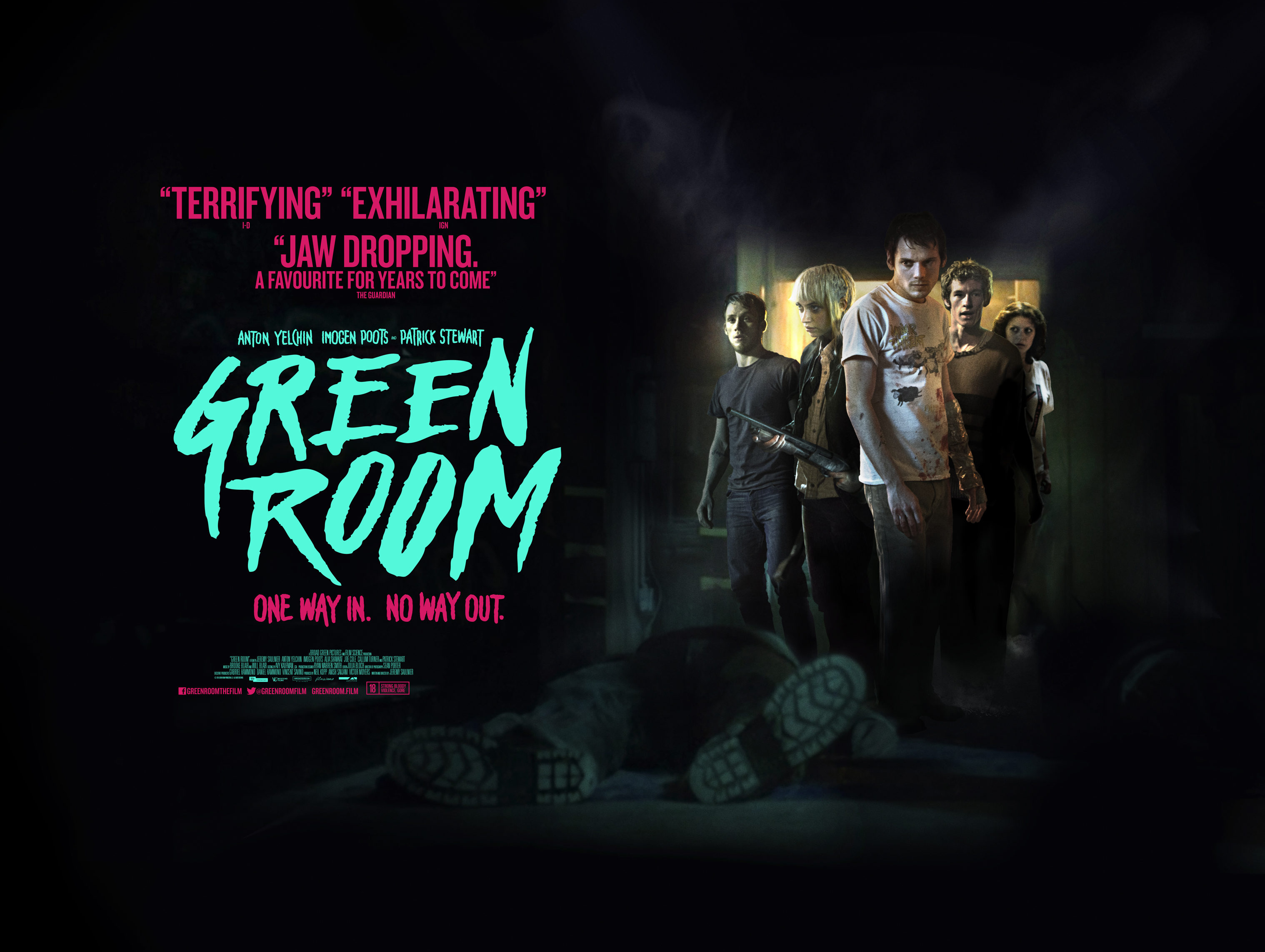 Green Room' Quad Poster Offers No Way Out - Bloody Disgusting