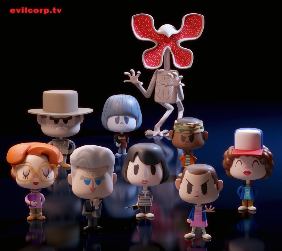 Unofficial Quot Stranger Things Quot Vinyl Figures Are Adorable