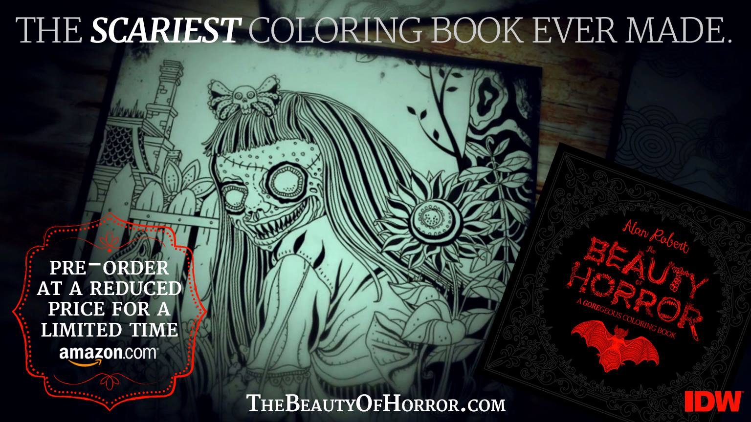 Alan Robert Talks The Beauty Of Horror And Adult Coloring Books