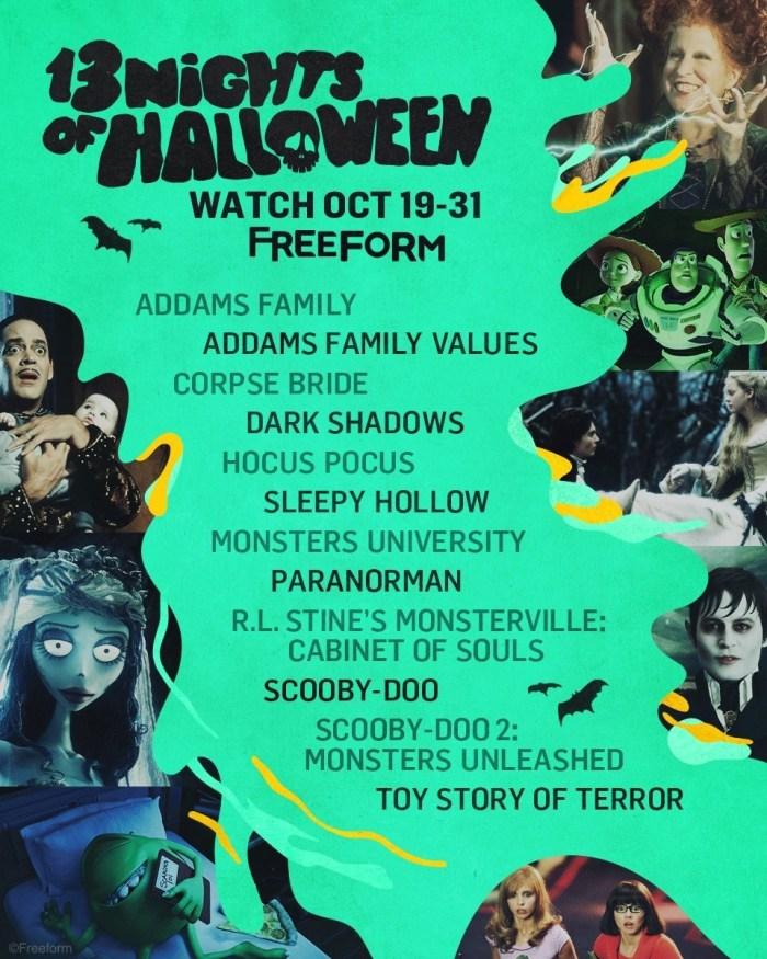 Freeform's 13 Nights of Halloween Begins Tonight; Full Schedule ...