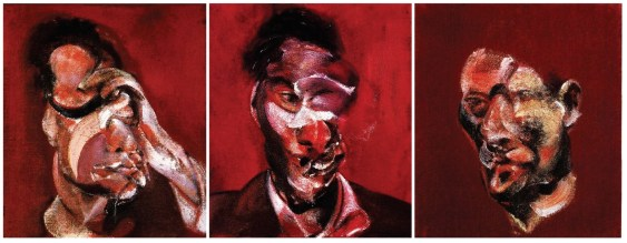 Three Studies for Portrait of Lucian Freud