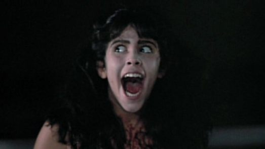 Woman screaming in the movie Sleepaway Camp