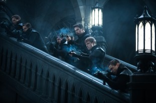 Theo James (center-left) and Bradley James (center-right) in Screen Gems' UNDERWORLD: BLOOD WARS.