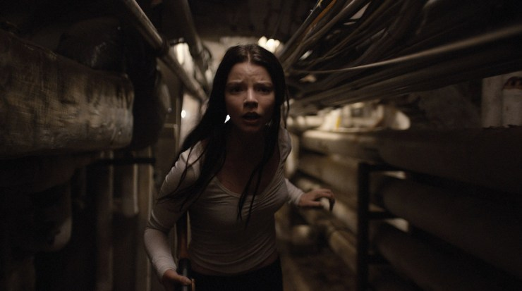 """ANYA TAYLOR-JOY as Casey Cooke in """"Split."""" Writer/director/producer M. Night Shyamalan returns to the captivating grip of """"The Sixth Sense,"""" """"Unbreakable,"""" and """"Signs"""" with this original film that delves into the mysterious recesses of one man's (James McAvoy) fractured, gifted mind."""