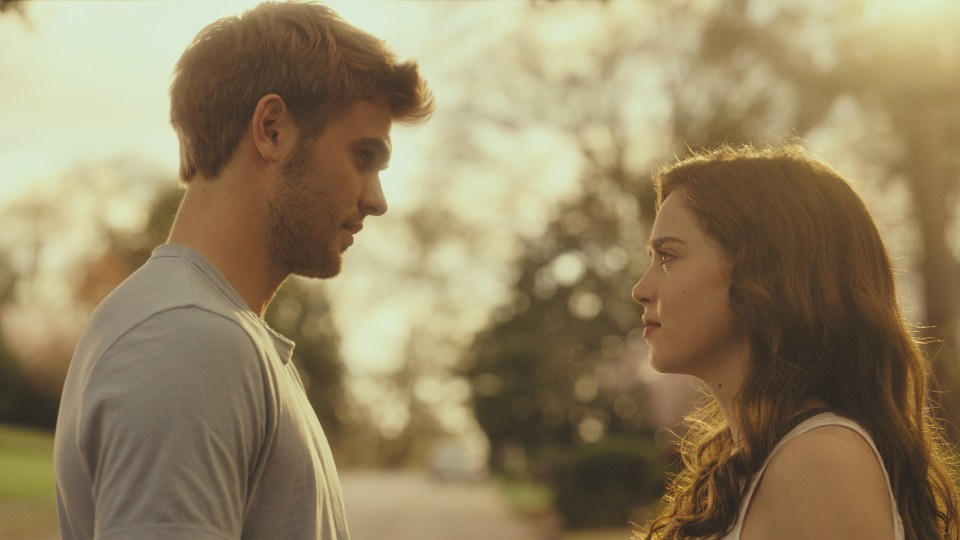Matilda Lutz as Julia and Alex Roe as Holt in the film RINGS by Paramount Pictures