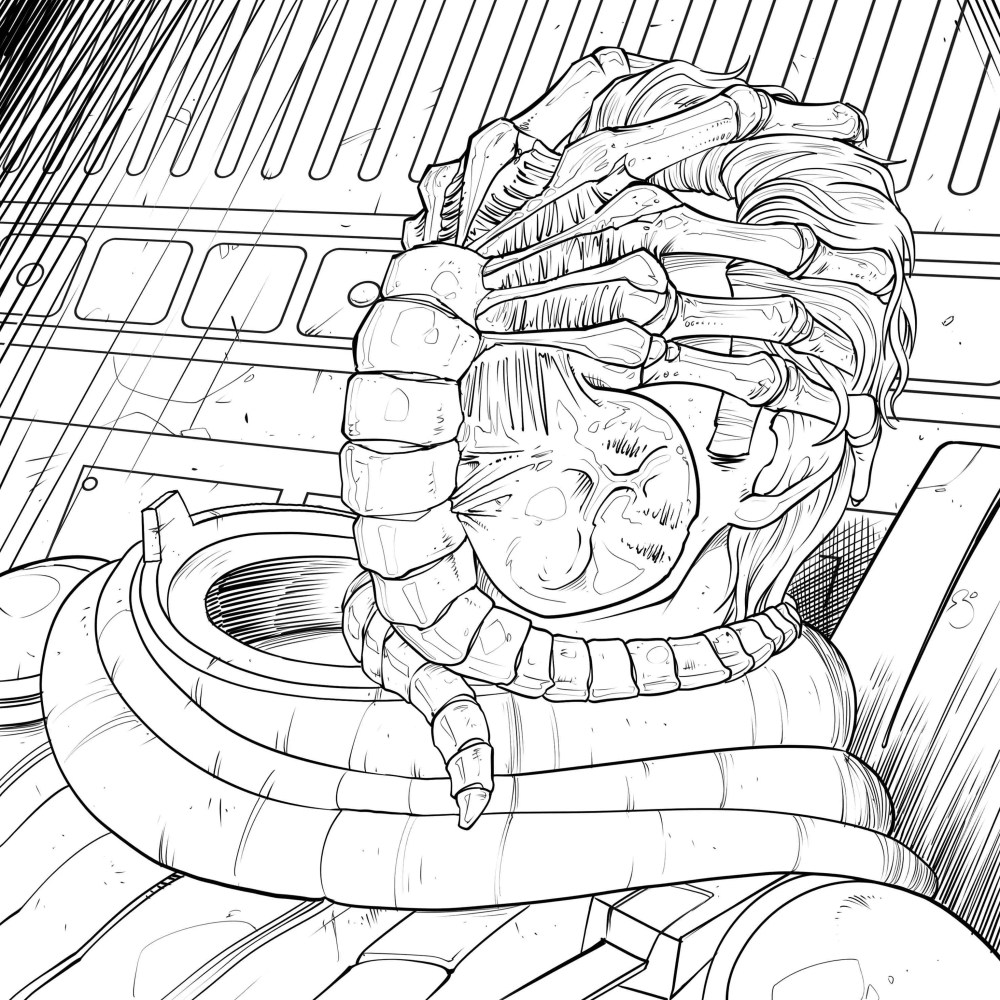 Download Four Exclusive 'Alien' Coloring Book Pages ...