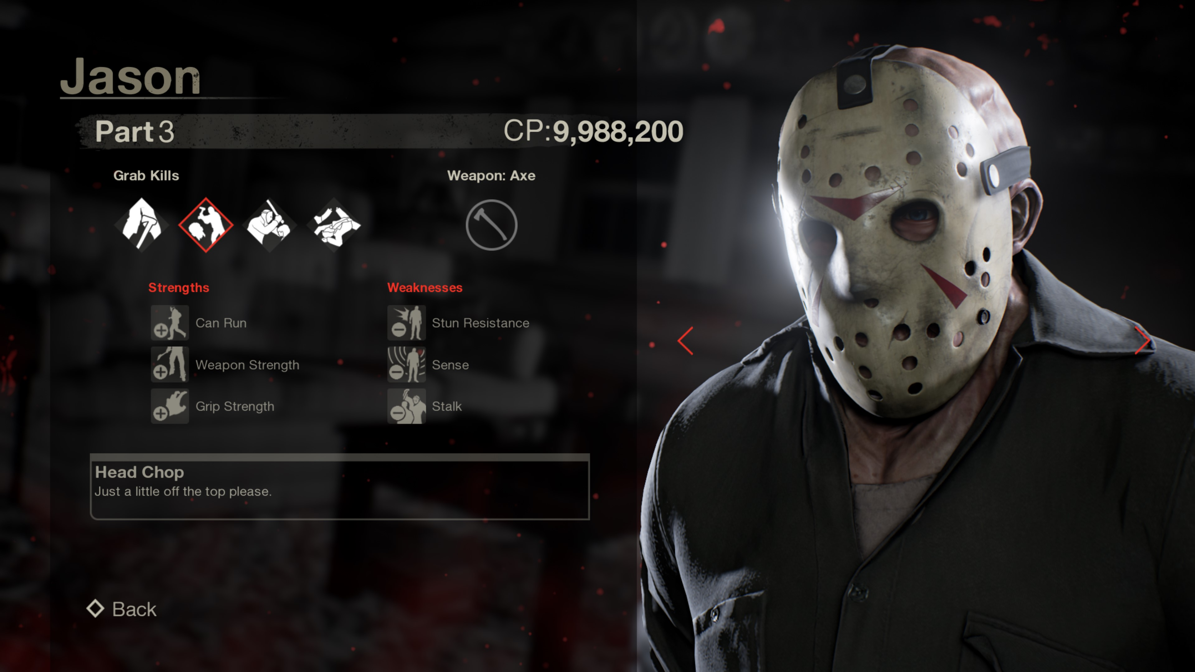 "Check Out Stat Screens for Every Playable Jason in ""Friday ..."