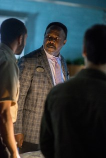 Isiah Washington Jr stars as Gus Redman, manager of the local mall who tries to keep order when a new socieity forms from survivors at the mall in Spike TV's THE MIST, based on a story by Stephen King, which premieres on Thursday, June 22 at 10 PM, ET/PT.