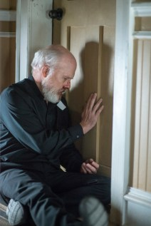 Dan Butler stars as Father Romanov, a modern minded priest who starts doubting his soft interpretation of the Bible as the mist arrives in Spike TV's THE MIST, based on a story by Stephen King, which premieres on Thursday, June 22 at 10 PM, ET/PT.