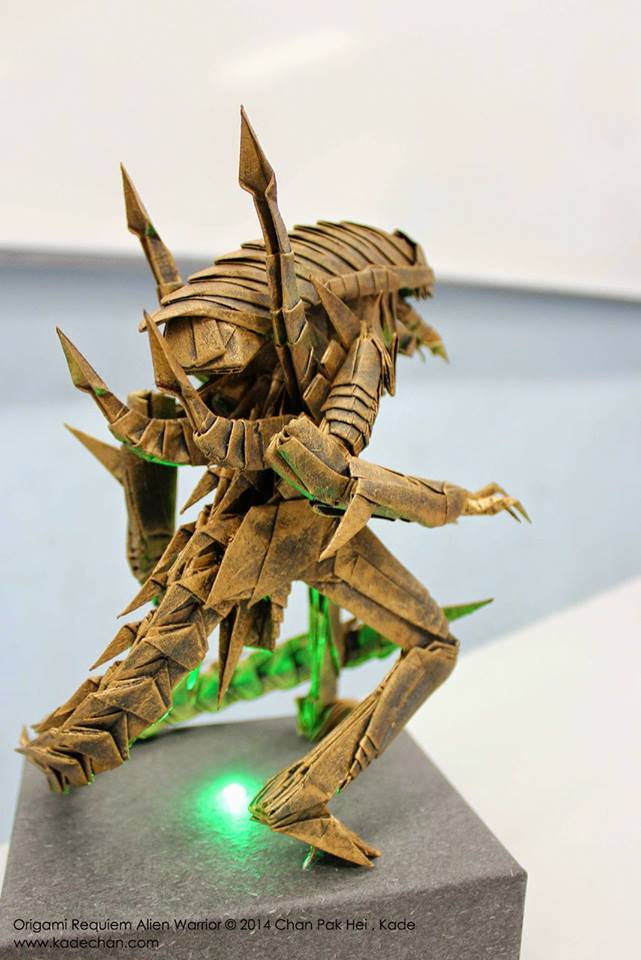 this xenomorph origami is absolutely incredible bloody