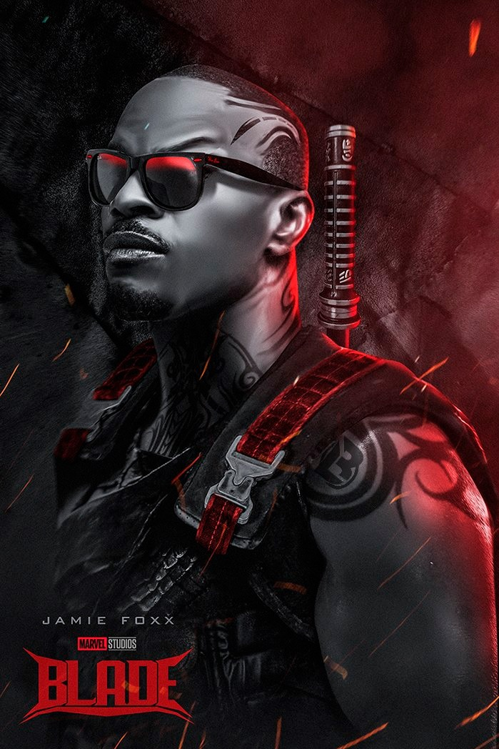 Badass Fan Poster Casts Jamie Foxx As Blade Bloody Disgusting