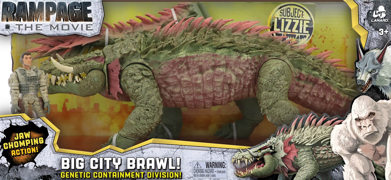 Rampage The Movie Big City Brawl Lizzie Set Lizzie Is Ready For Action With Jaw Action Figures Toys Games Toys Games Action Figures