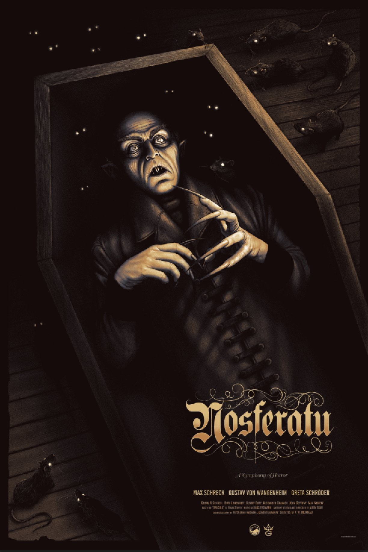 Grey Matter's New 'Nosferatu' Poster is a Glow in the Dark