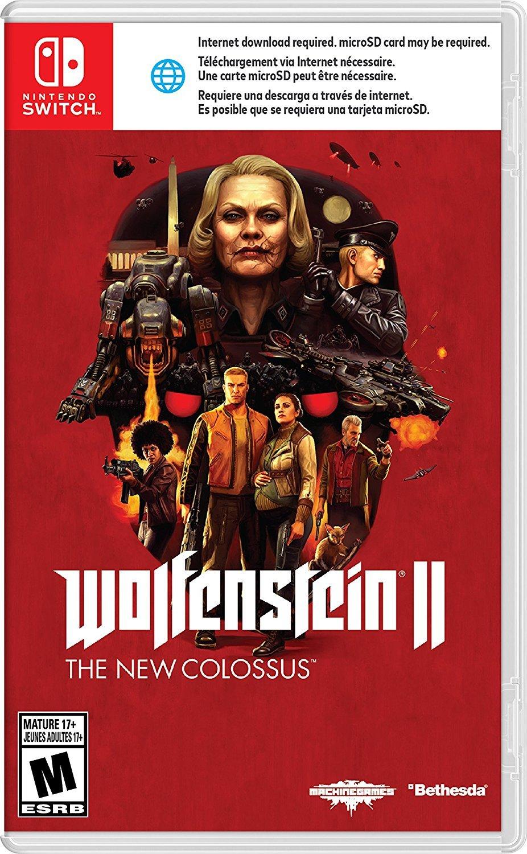 Wolfenstein II' Switch Boxart Revealed, Requires Download to