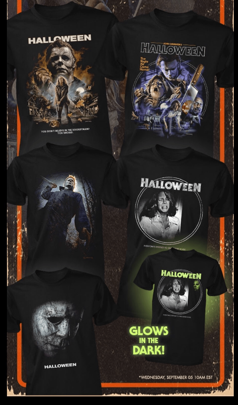 Fright Rags Teases Upcoming 'Halloween' T-Shirt Collection
