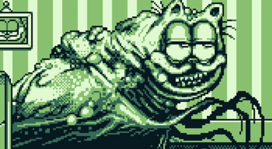 Creepy Garfield Art Gets Reimagined As A Gameboy Style Horror Bloody Disgusting