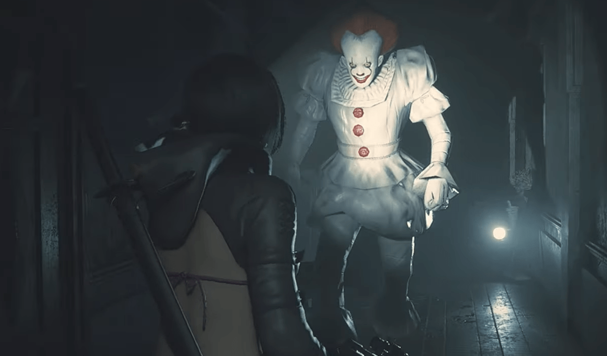 Video Pennywise Invades Raccoon City In This Brilliant And