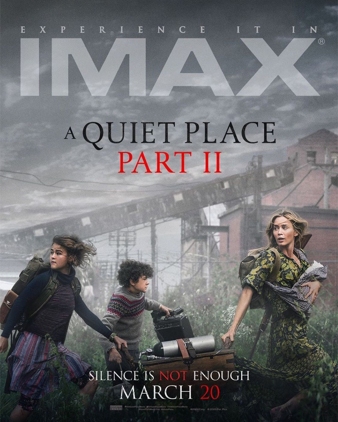 A Quiet Place Part II' IMAX Poster Continues the Family's Fight for  Survival - Bloody Disgusting