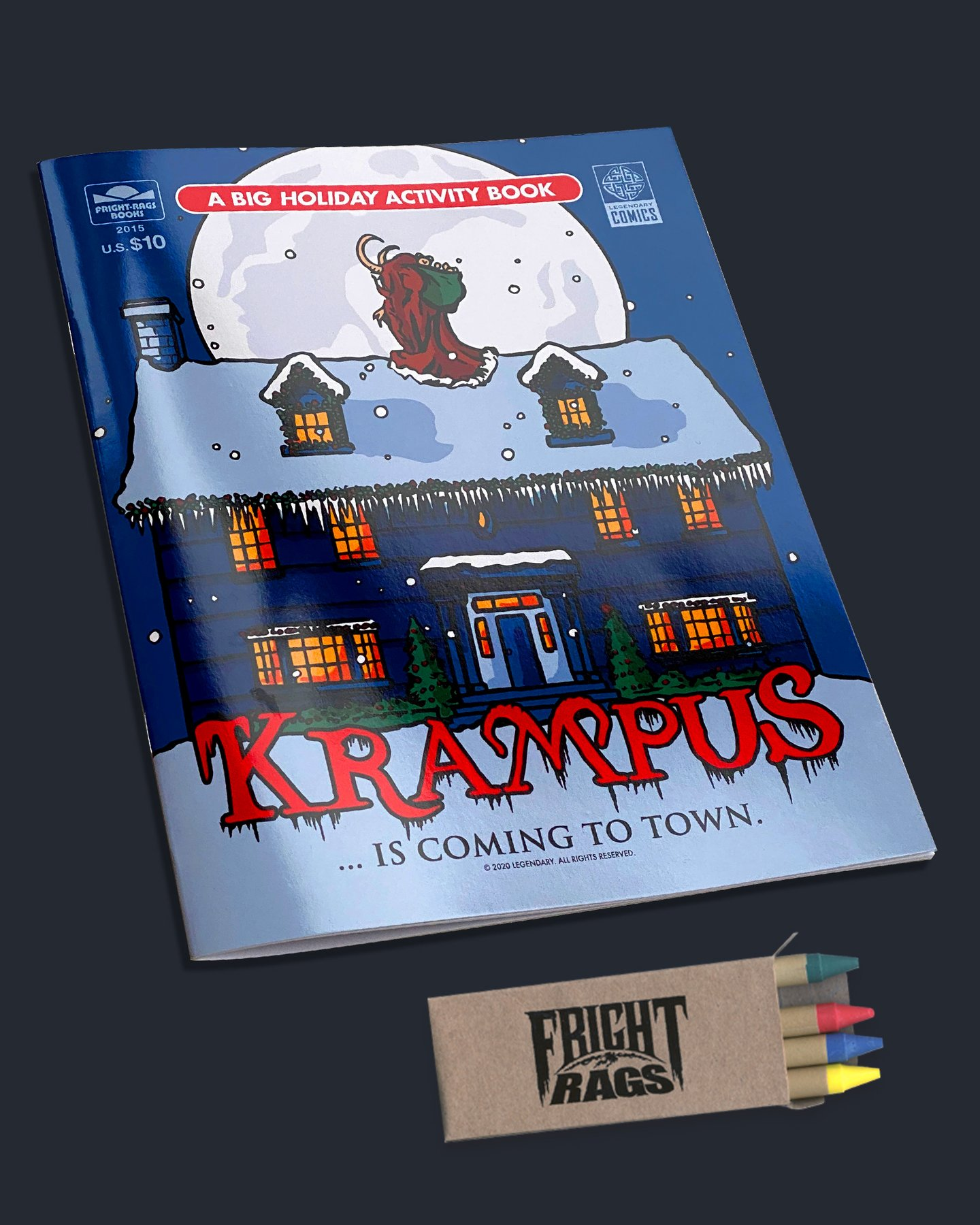 'Krampus' Collection from Fright Rags Includes a 20-Page Coloring/Activity Book