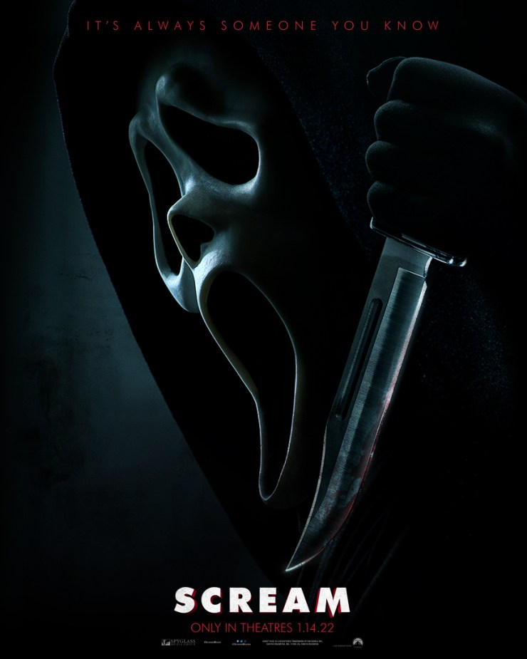 SCREAM 2022 - 'Scream': First Poster For New Film Shares Some Scary News