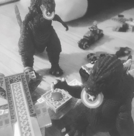 Godzilla Toy Battle