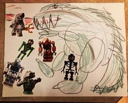 Godzilla Drawing by Milo