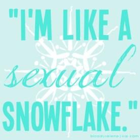 schmidtism_sexual snowflake