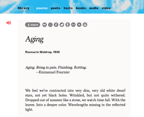 Aging by Rosemarie Waldrop at Poets.org