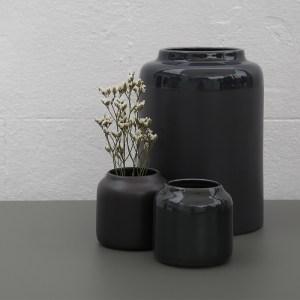 Coloris bois brulé de 3 vases Bloom