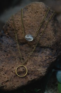 Antiqued brass necklaces