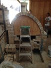 Arch completed. This is a great show that showcases the two different curves of the arch.