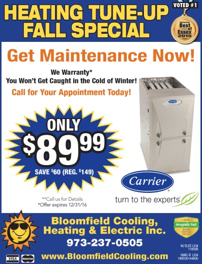 Heating Tune-Up Special | Bloomfield Cooling, Heating ...