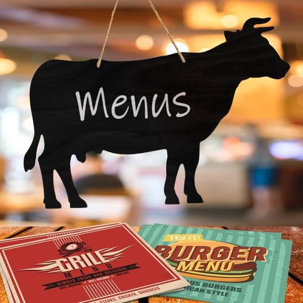rustic cow chalkboard - restaurant menu