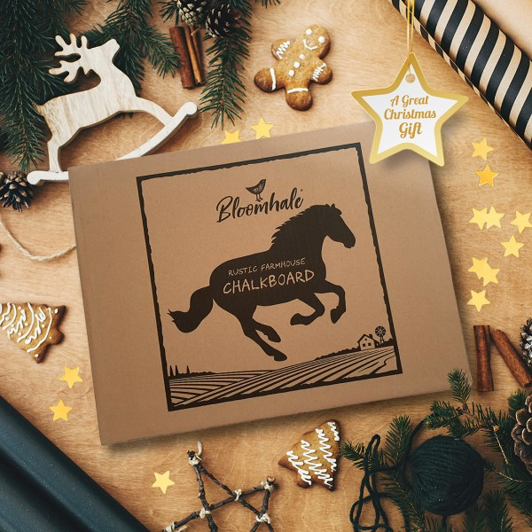 rustic horse chalkboard - gift box
