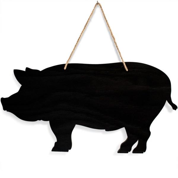 rustic pig chalkboard