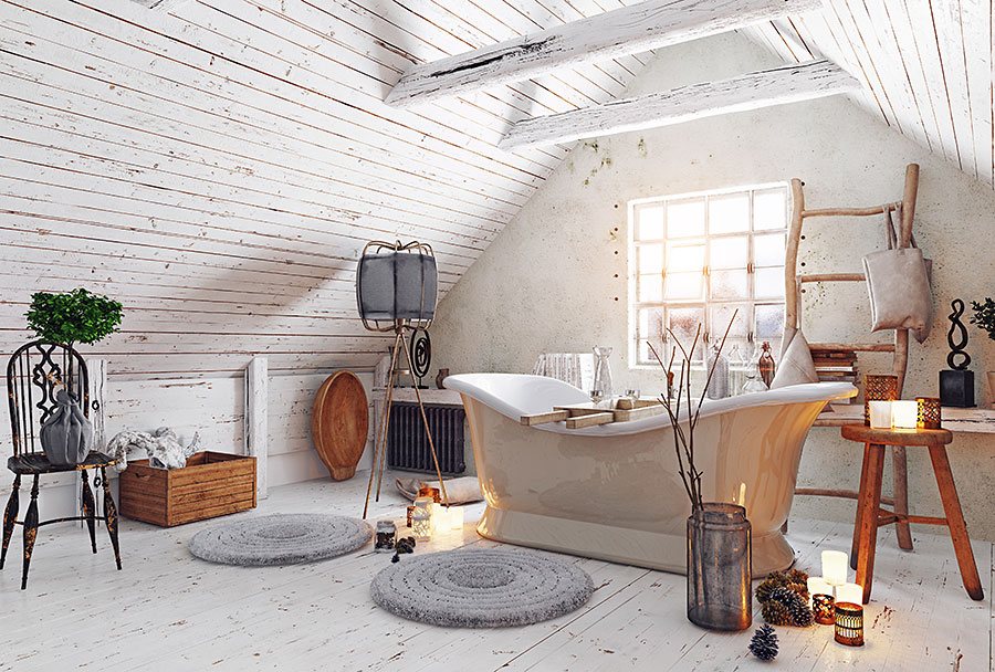 stylish rustic decor bathroom