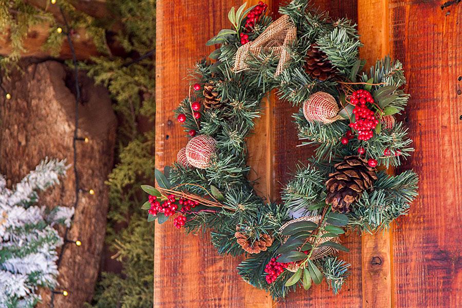wreath door decoration