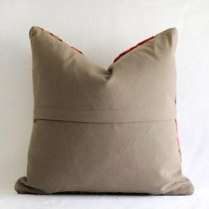 Vintage Square Kilim Rug Lumbar Accent Pillow