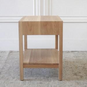Custom Made White Oak Nightstand with Single Drawer