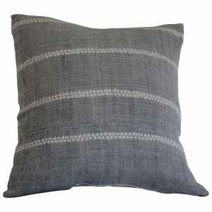 Antique Grey Shibori Style Accent Pillow