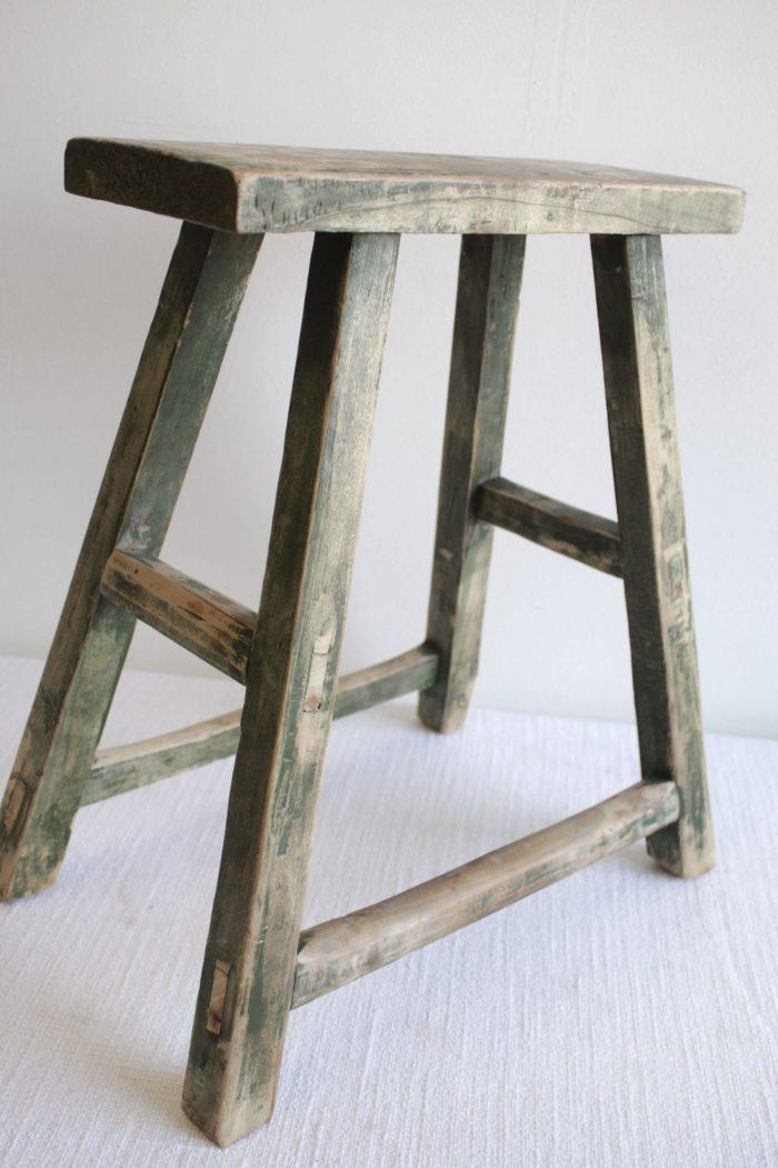 Small Natural Antique Elmwood Bench