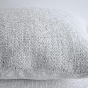 Off-White Vintage Turkish Hemp Rug Lumbar Pillow