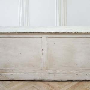 Vintage Country Primitive Painted 15-Drawer Store Counter