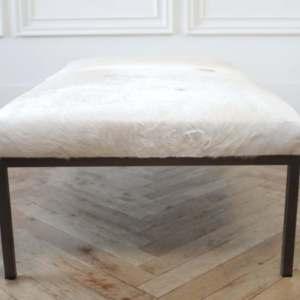 Customizable COM Metal Frame Cocktail Table Ottoman