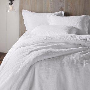 Organic Relaxed Linen Sheet Set in White