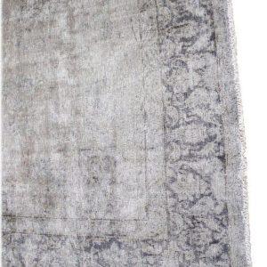 Soma Vintage Wool Turkish Rug in Blue Tones