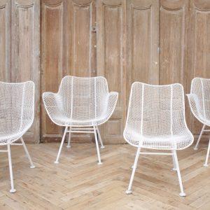 Set of 4 Mid Century Modern Russell Woodard Sculptura Chairs